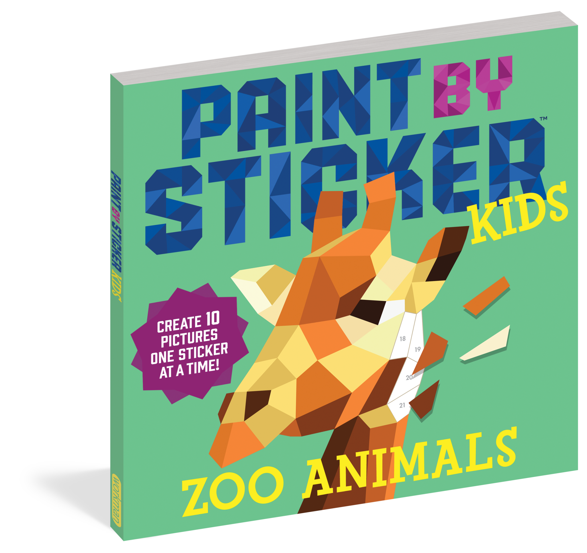 Paint by Sticker Kids Workbook - Zoo Animals