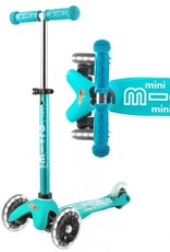 Mini Deluxe Scooter Aqua w/ LED Wheels by Micro Kickboard