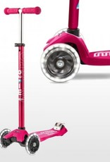 Maxi Deluxe in Pink with LED Wheels by Micro Kickboard