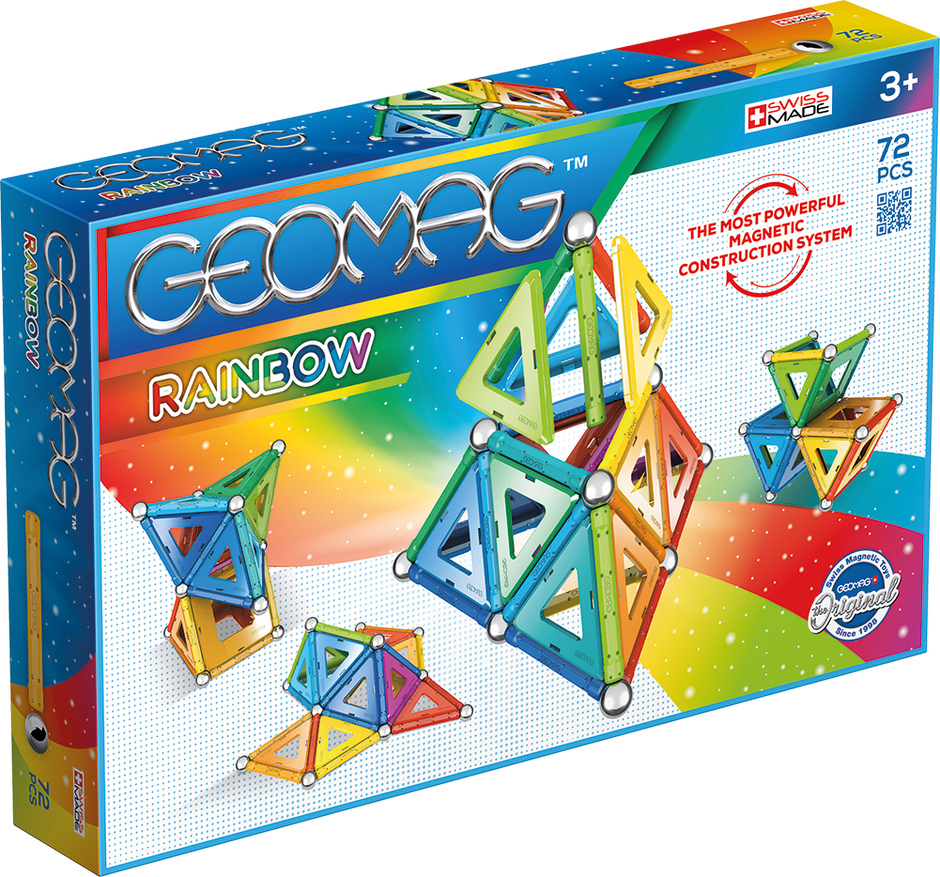 Geomag Rainbow 72-pc Seteomag Rainbow 72pc