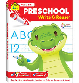 Preschool Write & Reuse Workbook by School Zone