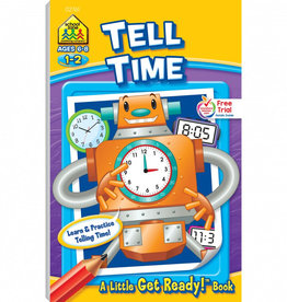 Tell Time Get Ready Book by School Zone