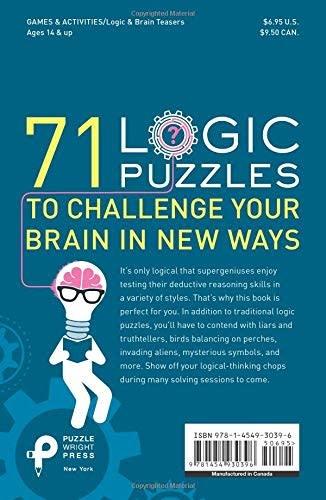 Supergenius Logic Puzzles Paperback Book