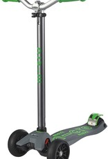 Maxi Deluxe Pro in Grey/Green by Micro Kickboard