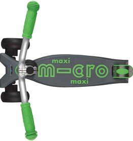 Maxi Deluxe Pro in Grey/Green by Micro Kickboard