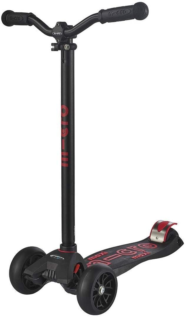 Maxi Deluxe Pro in Black/Red by Micro Kickboard