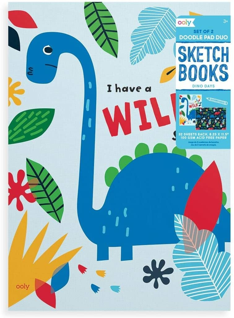 Dino Days Sketchbook Set of 2 by Ooly