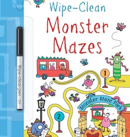 Wipe-Clean Monster Mazes by Usborne