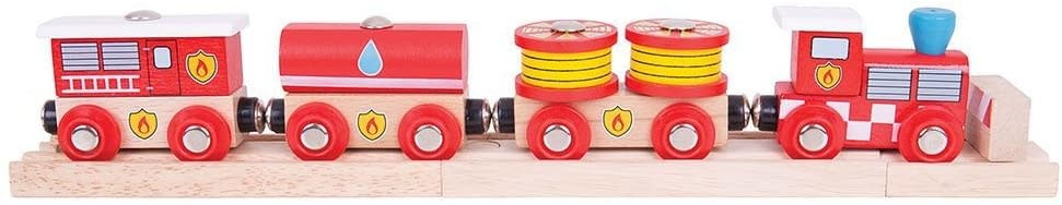 Fire and Rescue Train Set by Bigjigs