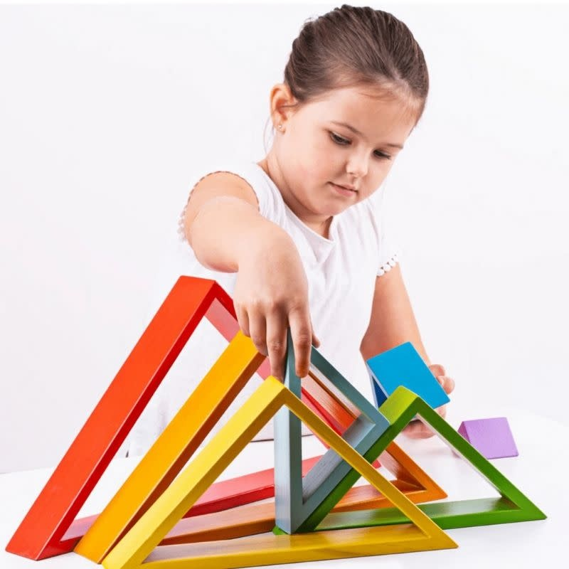 Wooden Stacking Triangles by Bigjigs Toys