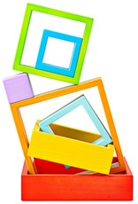 Wooden Stacking Squares by Bigjigs Toys