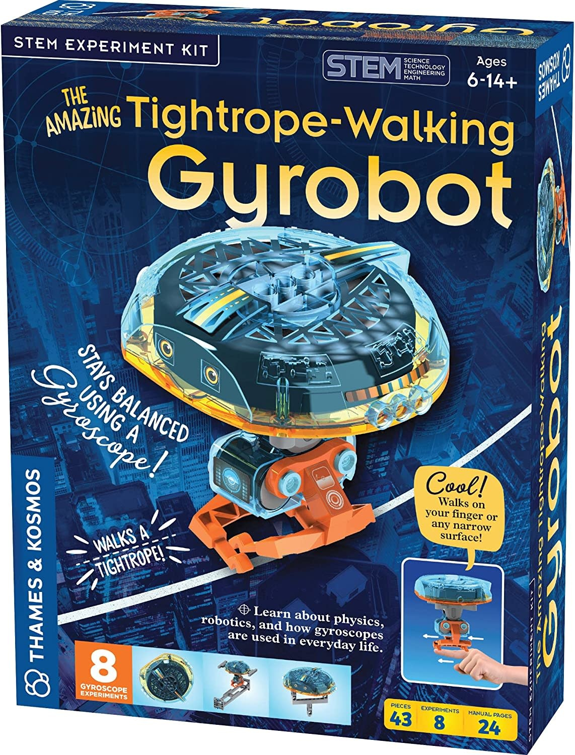The Amazing Tightrope-Walking Gyrobot by Thames & Kosmos