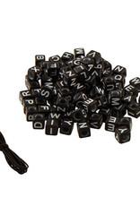 Fashion Angels Alphabet Bead Bag of Black Cubes by Fashion Angels
