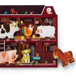 On the Farm 6-pc Wood Puzzle by Crocodile Creek