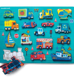 Things That Go 16-pc Wood Puzzle by Crocodile Creek