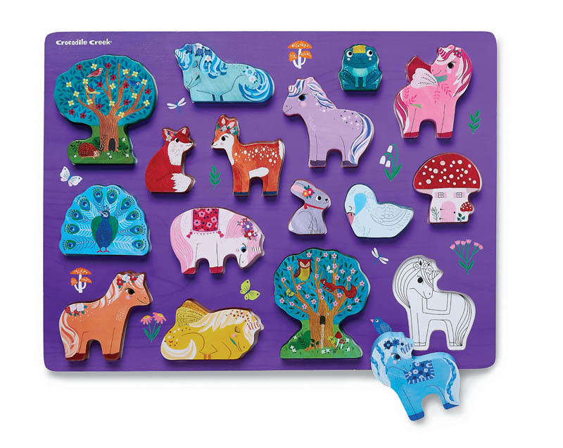 Unicorn Garden 16-pc  Wood Puzzle by Crocodile Creek