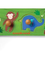 Jungle 4-pc Wood Knob Puzzle by Crocodile Creek