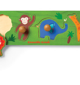 Jungle 4-pc Wood Knob Puzzle by Crocodile Creek