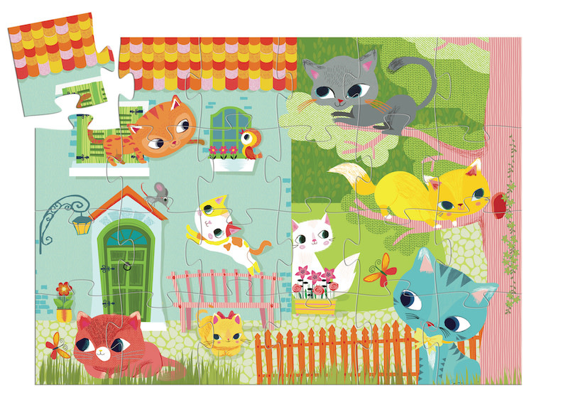 Pachat & His Friends 24-pc Silhouette Puzzle by Djeco