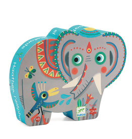 Haathee Elephant 24-pc Silhouette Puzzle by Djeco