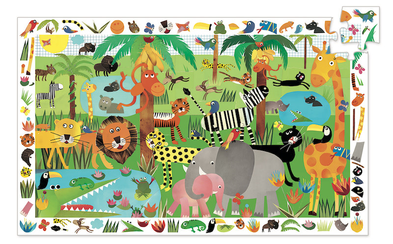 Jungle Observation 35-pc Puzzle by Djeco