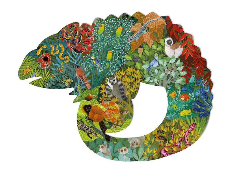 Puzz'Art Chameleon 150-pc Puzzle by Djeco