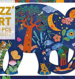 Puzz'Art Elephant 150-pc Puzzle by Djeco