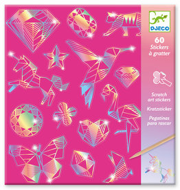 Diamond Scratch Stickers by Djeco