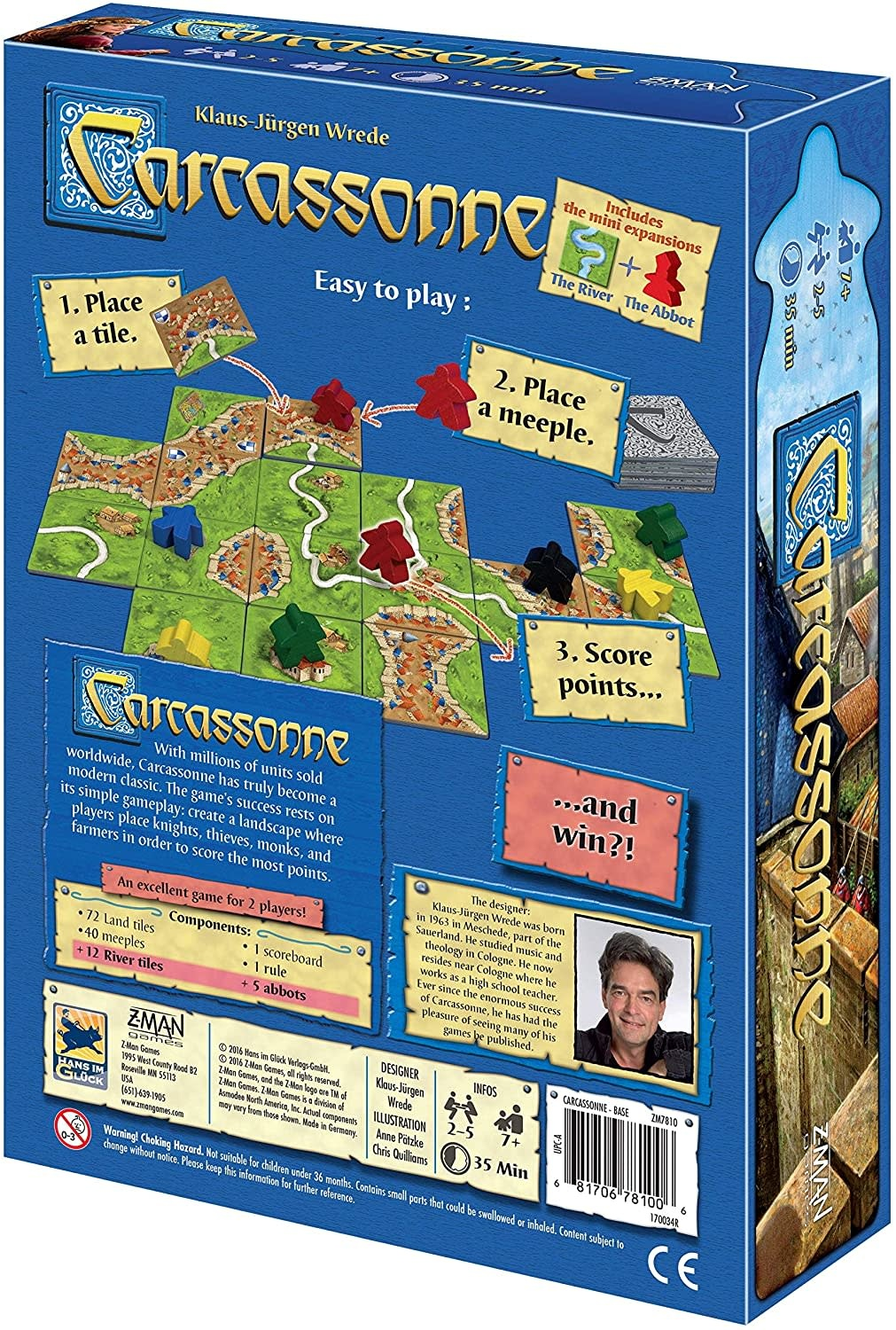 Carcassonne Standard Board Game by Z-MAN