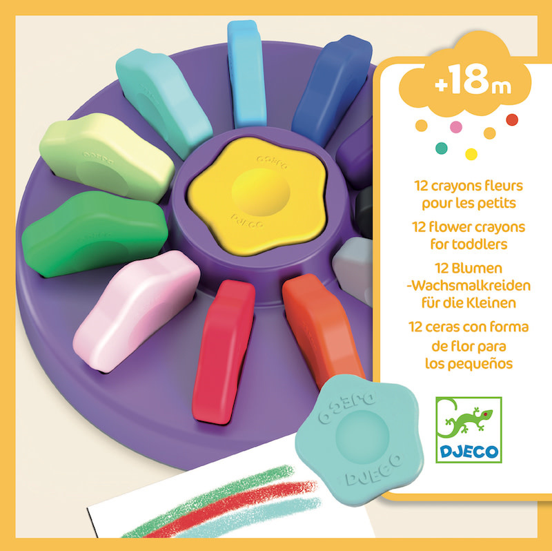 Flower Crayons for Toddlers by Djeco