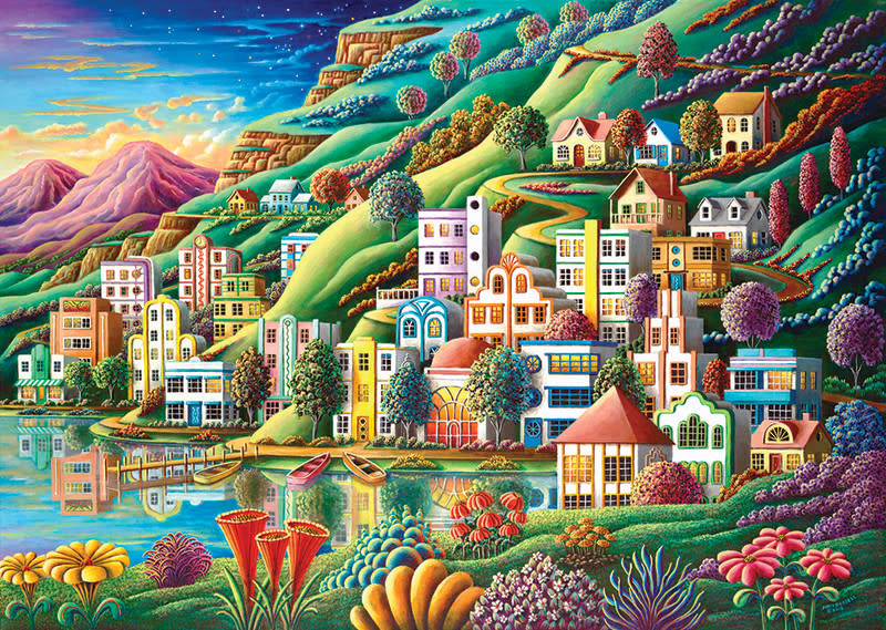 Hidden Harbor 1500-pc Art Puzzle by Heidi