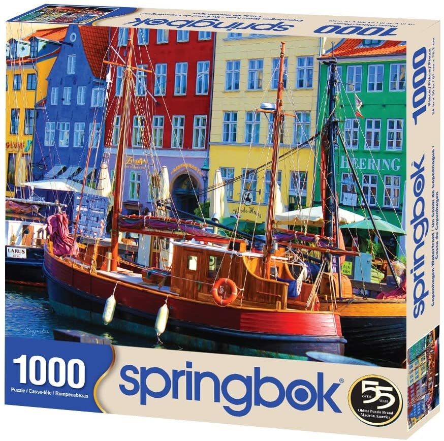 Copenhagen Waterfront 1000-pc Puzzle by Springbok