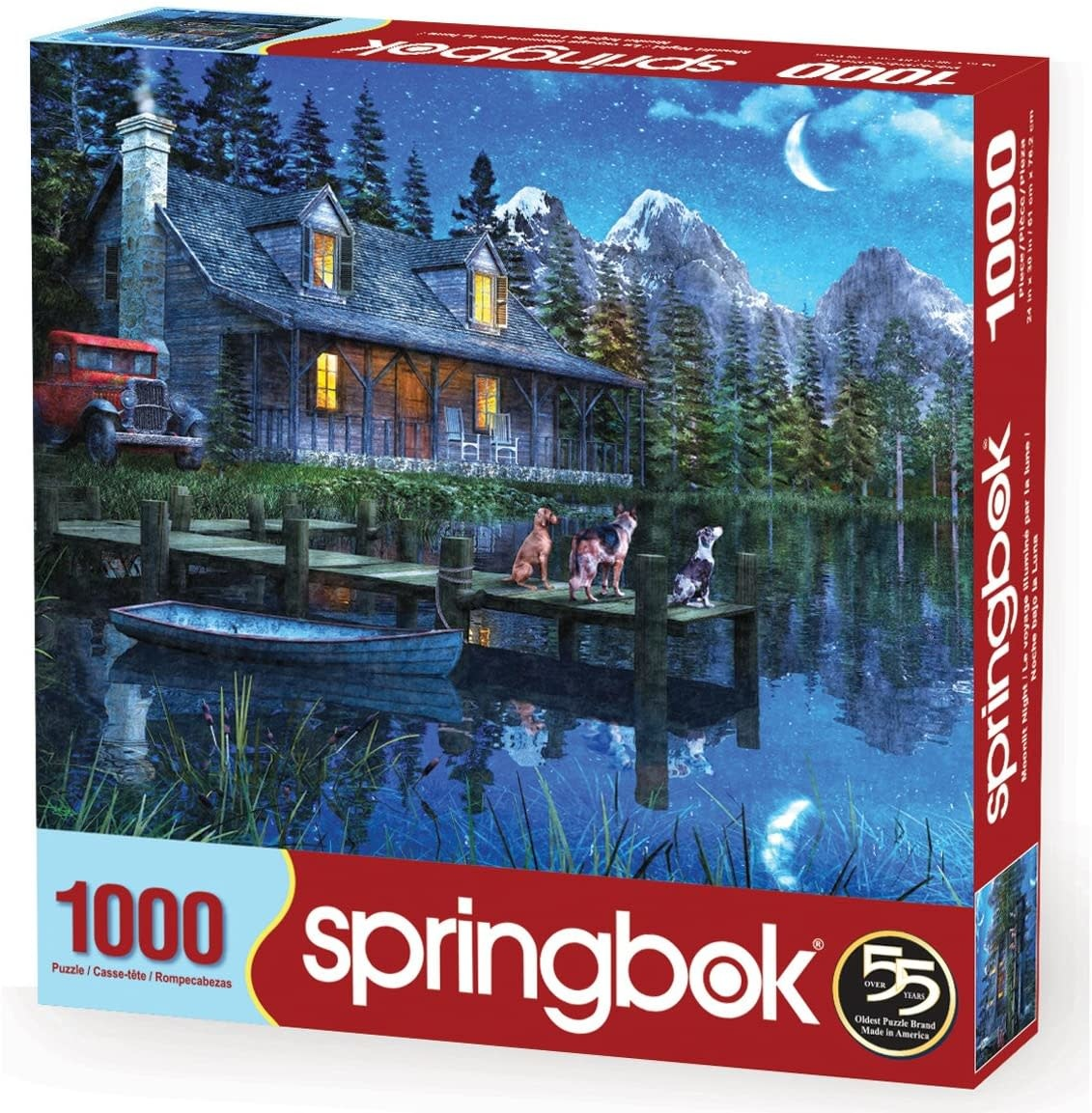 Moonlit Night 1000-pc Puzzle by Springbok