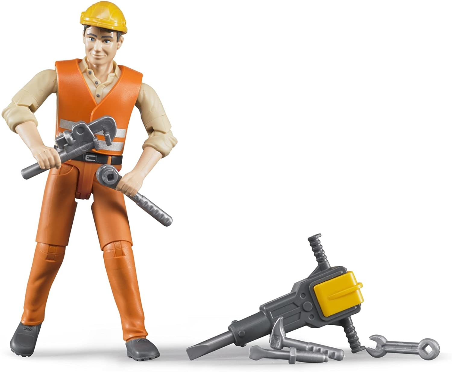 Construction Worker w/ Accessories by Bruder