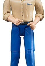 Construction Worker in Blue Jeans by Bruder