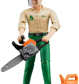 Forestry Worker w/ Accessories by Bruder