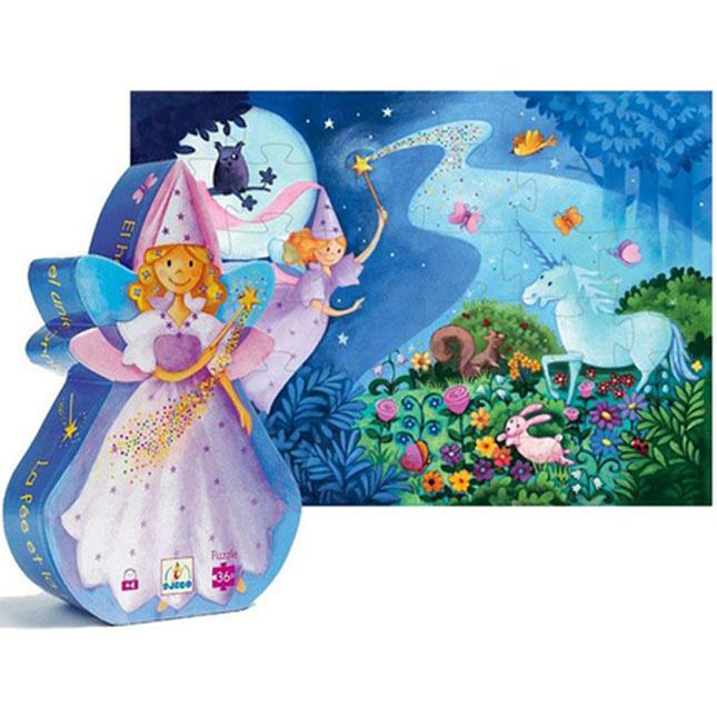Fairy & Unicorn 36-pc Puzzle by Djeco