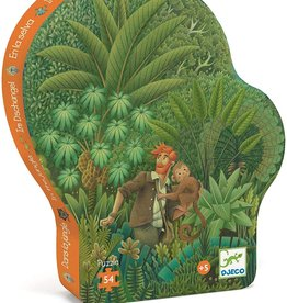 In the Jungle 54-pc Silhouette Puzzle by Djeco