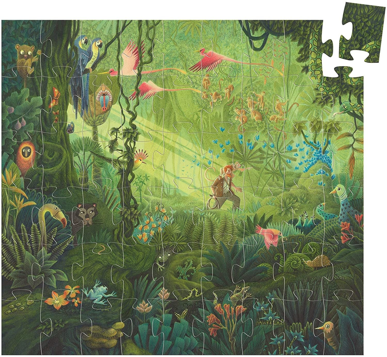 In the Jungle 54-pc Puzzle by Djeco