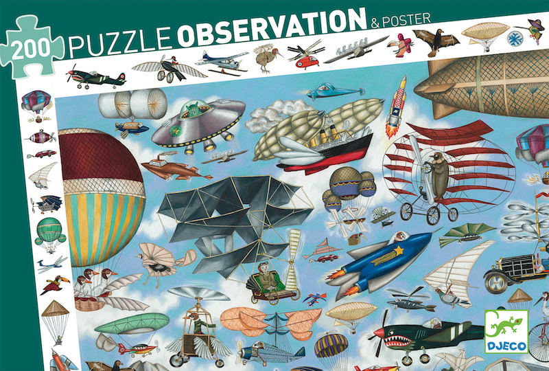 Aero Club Observation 200-pc Puzzle by Djeco