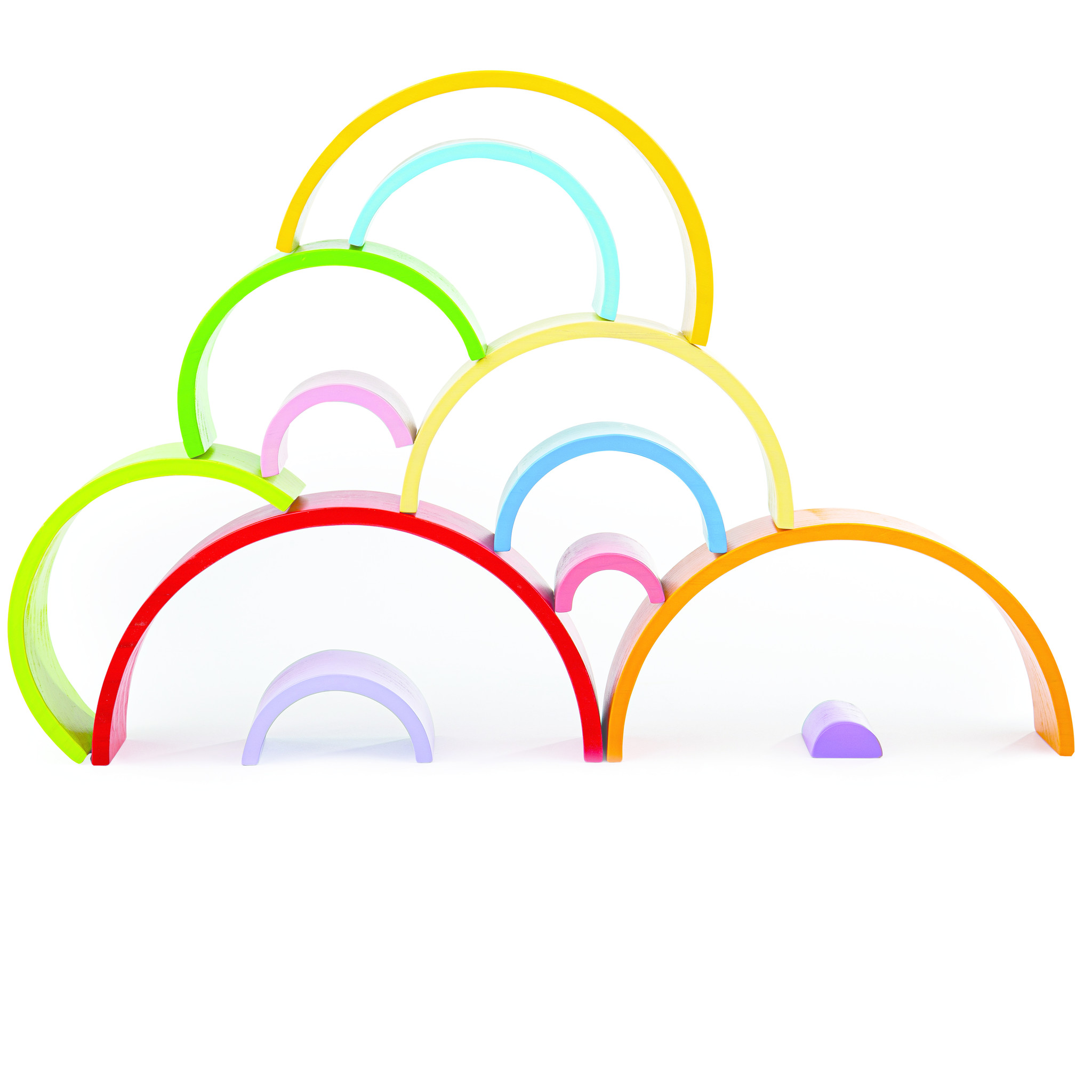 Wooden Stacking Rainbow  (Large) by Bigjigs Toys