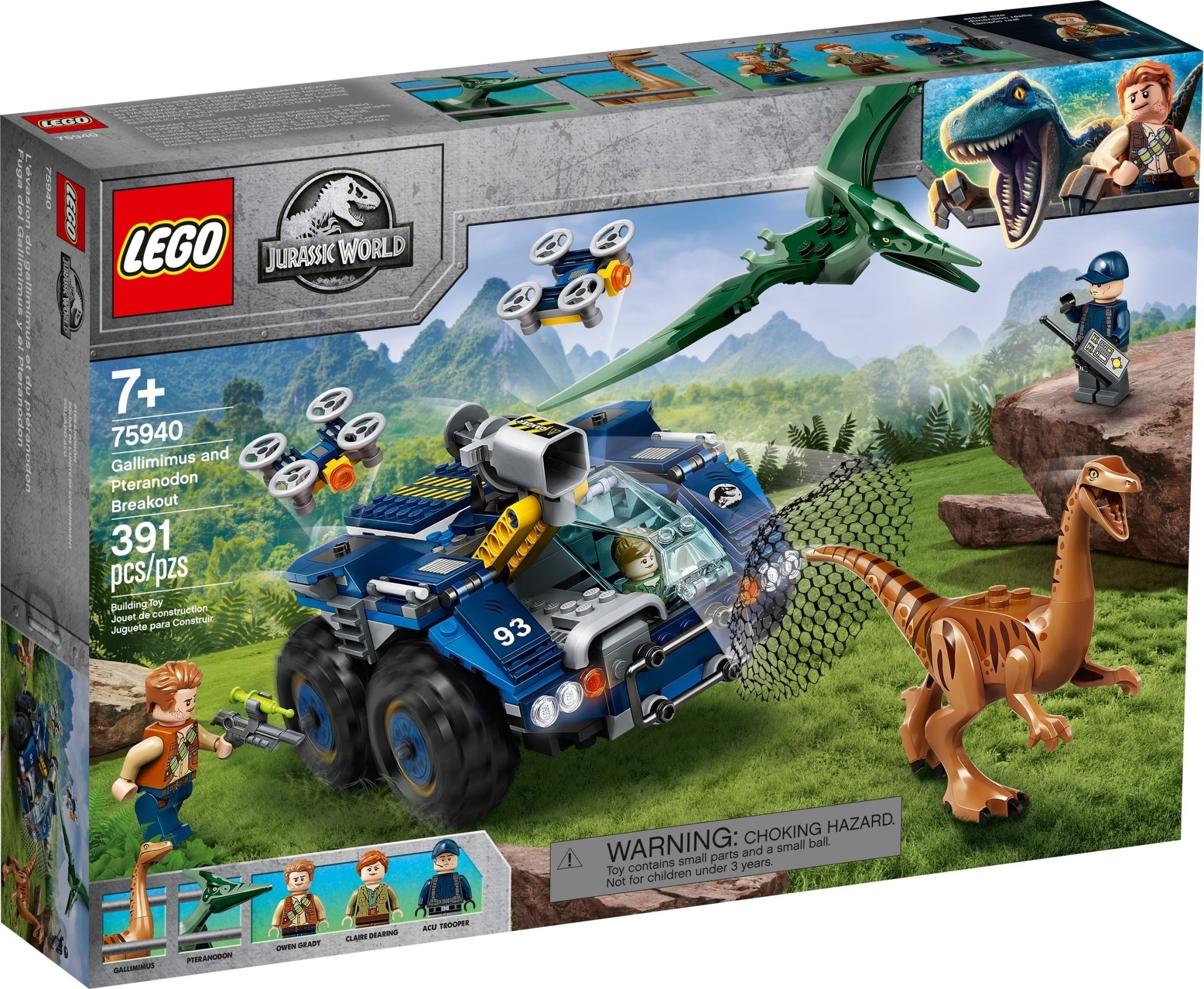 75940 Gallimimus and Pteranodon Breakout by LEGO Jurassic World