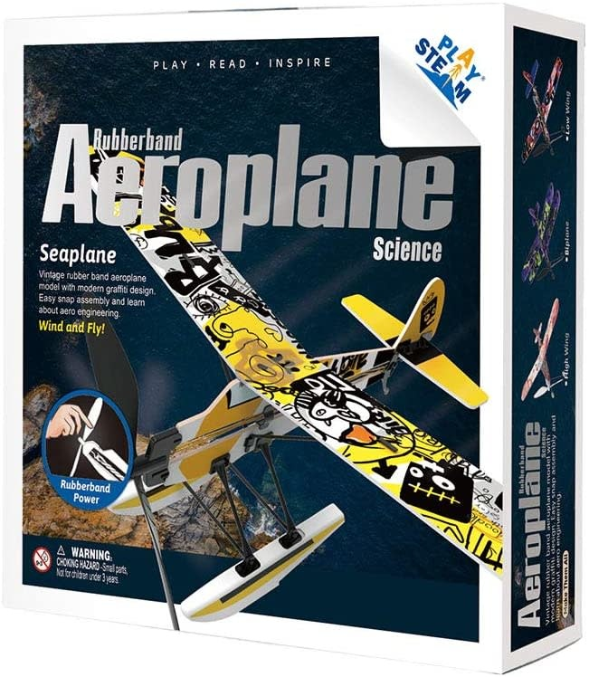 Rubber Band Aeroplane - Seaplane by Play STEAM