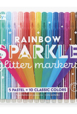 Rainbow Sparkle Glitter 15-pc Marker Set by Ooly