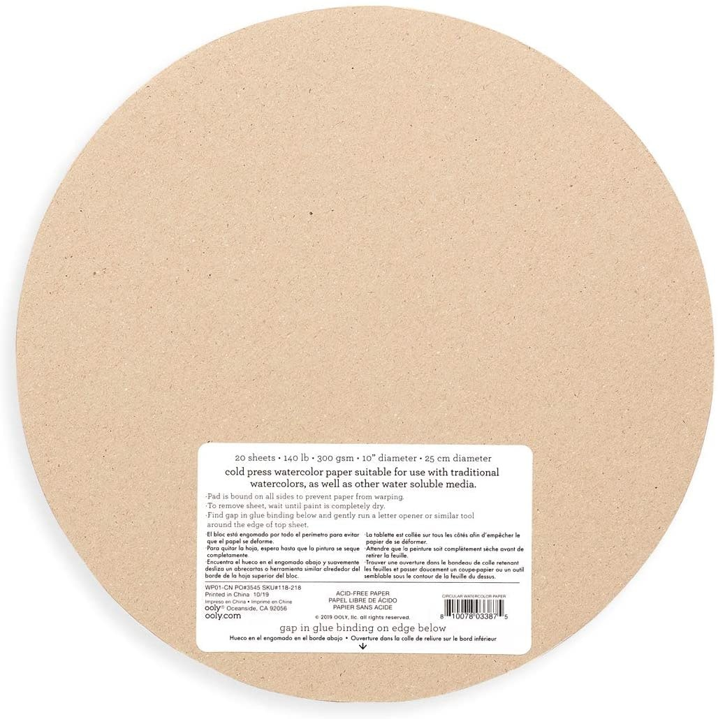 Chroma Blends Circular Watercolor Paper Pad by Ooly