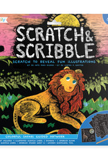 Scratch & Scribble Colorful Safari Art Kit by Ooly
