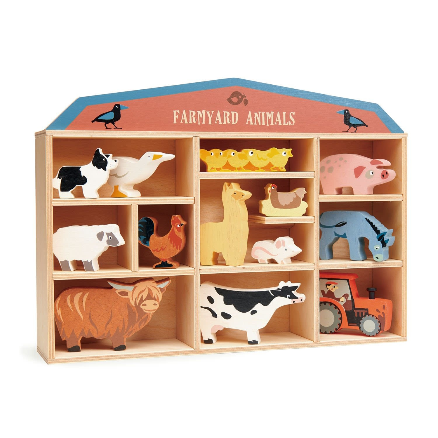 Farmyard Animals Wooden Display Set by Tender Leaf