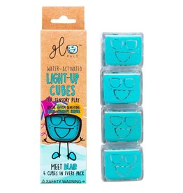 Gloworks Glo Pals 4-Pack Water-Activated Cubes - Blue