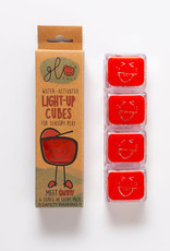 Gloworks Glo Pals 4-Pack Water-Activated Cubes - Red
