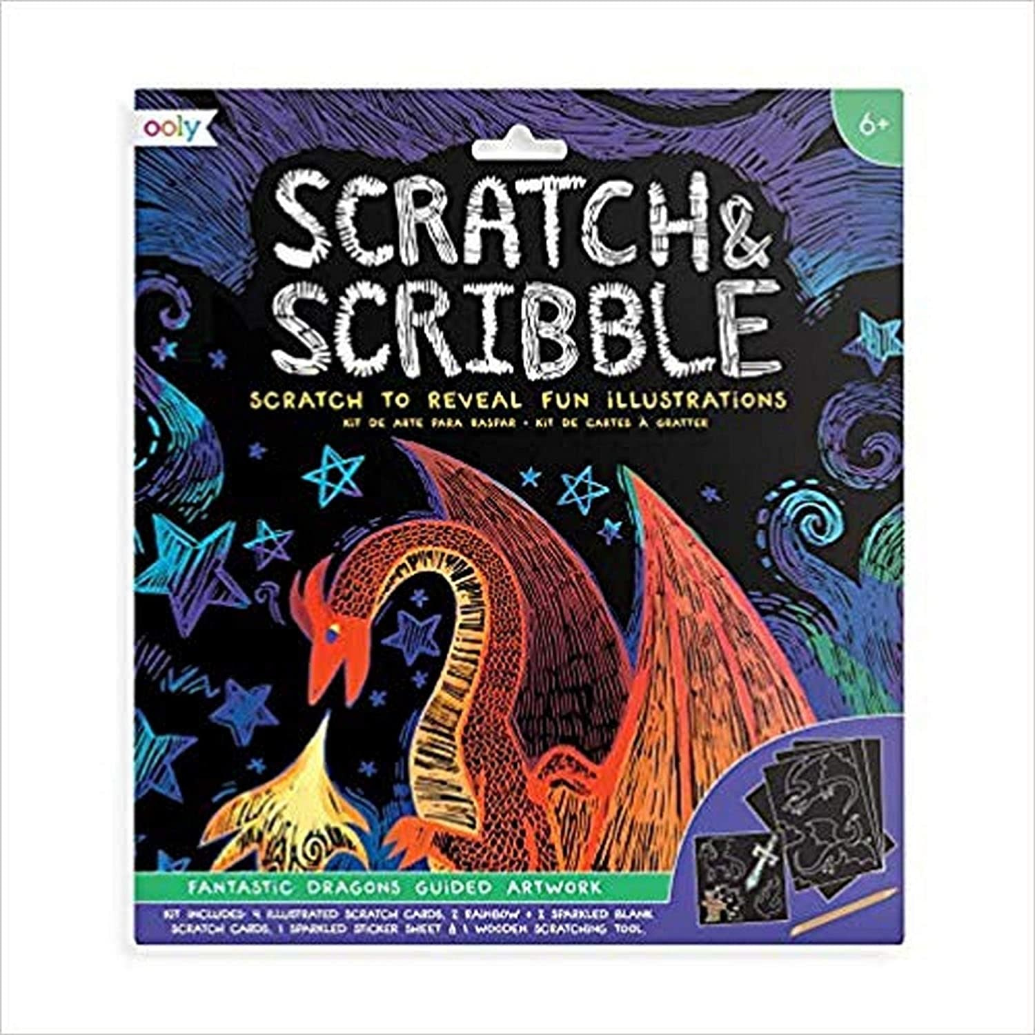 Scratch & Scribble  Fantastic Dragons Art Kit by Ooly